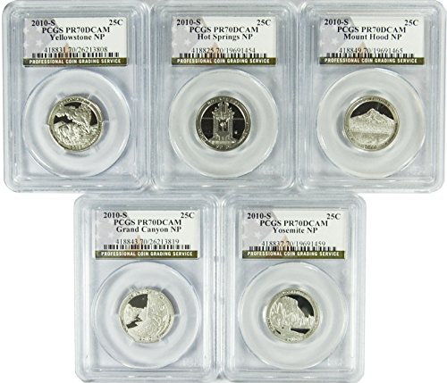 2010 National Parks Set Set of 5 S Quarter DCAM PCGS PR-70