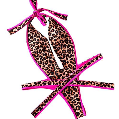 LILIHOT Damen Print Siamese Bandage Badeanzug Pulled Bikini Mit V-Form Ausschnitt Bauchweg RüCkenfrei Push-Up Elegant Grace Schwimmanzug Erotische Dessous Reizvolle Reizwäsche