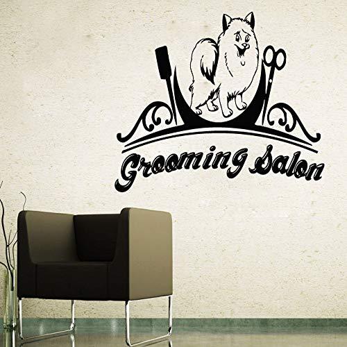 guijiumai Cane Negozio di Animali Adesivi murali in Vinile Decalcomanie da Muro Rimovibili Grooming Salon Decal Sticker Camera da Letto Fai da Te Poster Autoadesivo S 8 57X87 cm