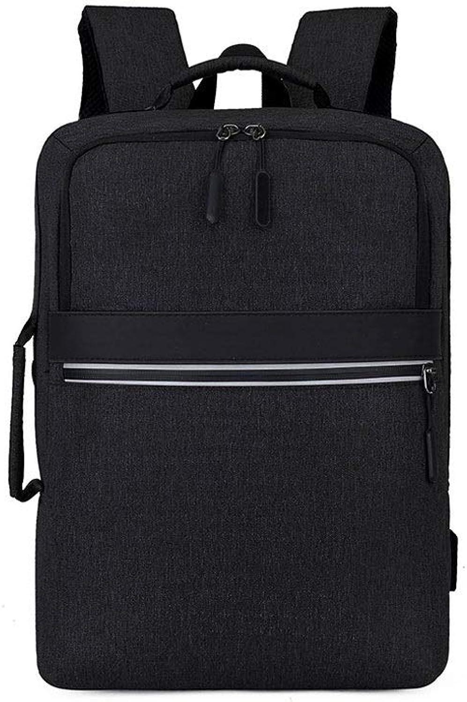 AnSuu Business Backpack Multifunctional Laptop Bag Business Shoulder Bag Bag Backpack (color   Black)