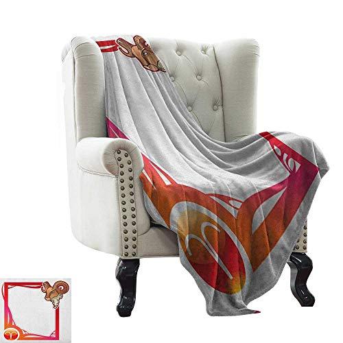 LsWOW - Manta para bebé con diseño de Signo del Zodiaco y símbolo de Animales, Cama y sofá, fácil Cuidado, 152 x 198 cm