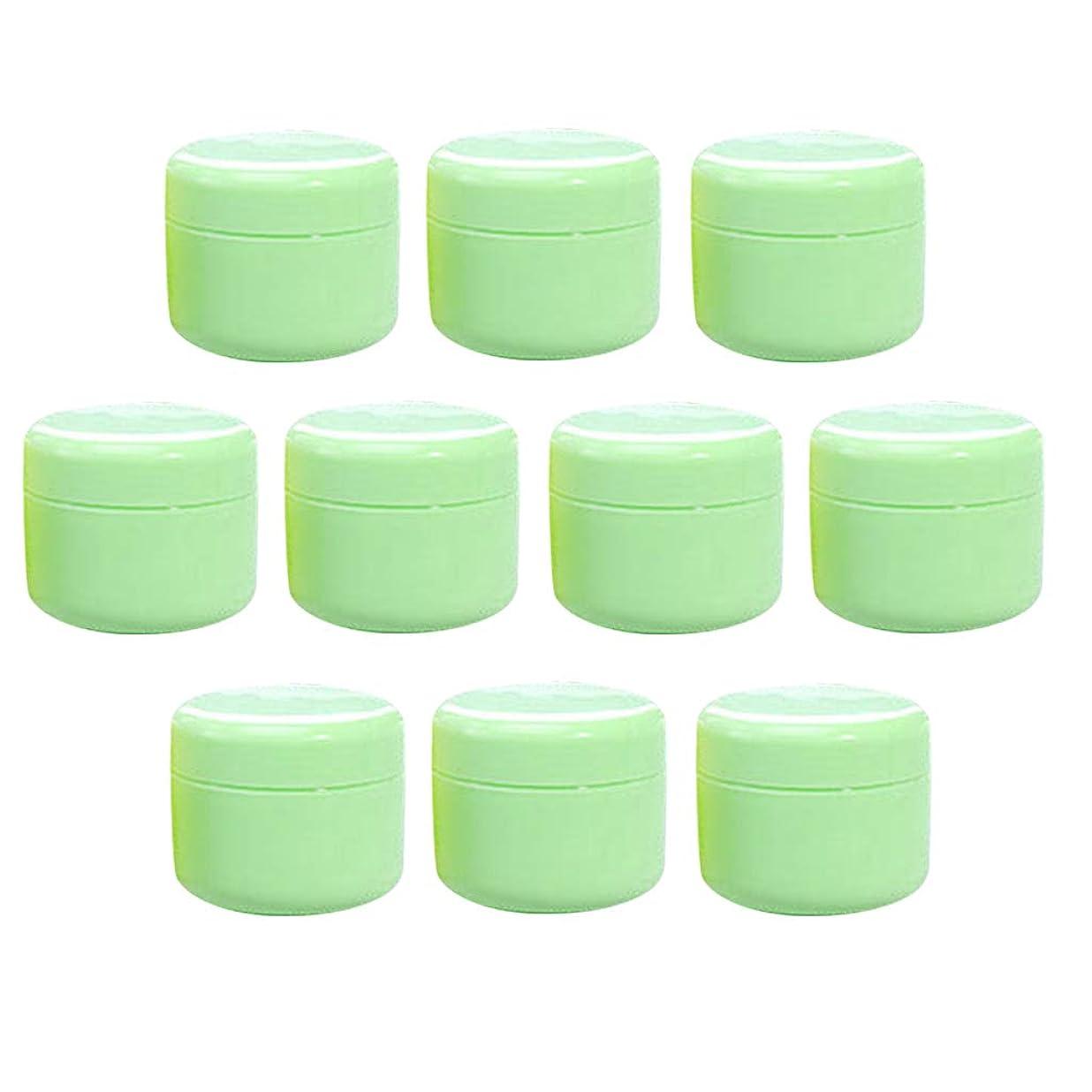 推進、動かす詩人彼女のT TOOYFUL 空のクリーム容器 空のボトル クリームボトル 化粧品容器 詰替え容器 空の瓶 ジャー 全15色10個入り - グリーン50g