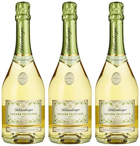 Schlumberger Wein und Sektkellerei Sektkellerei Schlumberger Wein und Sektkellerei Grüner Veltliner Brut ''Klassik'' Sekt (3 x 0.75 l)