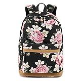 Neuleben Rucksack Schulrucksack mit Blumenmuster USB Port für Damen Mädchen Rucksäcke Daypack...