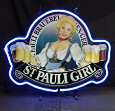 "Queen Sense 14""x10"" ST Pauli Girl Neon Sign Light Beer Bar Pub Man Cave Real Glass Lamp DE72"