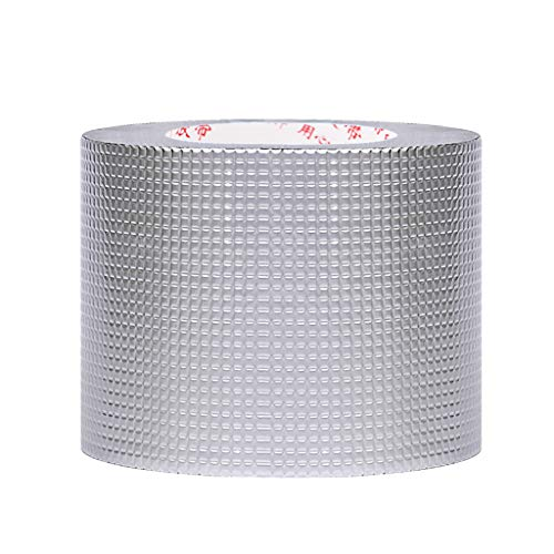 zzjj Aluminium Foil Duct Tape,Super Waterproof Butyl Tape,Anti-Ultraviolet and High and Low Temperature Resistance Self-Adhesive Tape,for Roof Leak,Surface Crack,Window Sill Gap Or Pipe Rupture