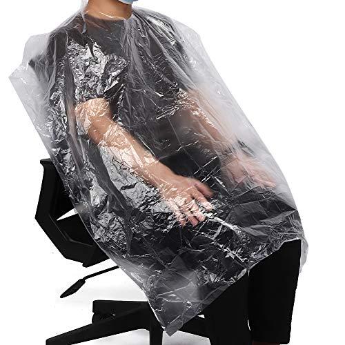 50 Uds capas de peluquería desechables capa de corte de pelo impermeable delantal de teñido de lavado de pelo capas de protección para peluquería