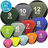 Balón Medicinal de Goma de Colores en 1kg, 1,5kg, 2kg, 3kg, 4kg, 5kg, 6kg, 7kg, 8kg, 9kg, 10kg, 12kg, Entrenamiento de Fuerza, Crossfit, Culturismo, Wallball, rehabilitación y Fitness, Set-8+10+12KG