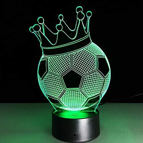Regalo conmemorativo de cumpleaños luz 3d club de fútbol luz táctil led lámpara de mesa de fútbol luz de fútbol productos para bebés luz nocturna