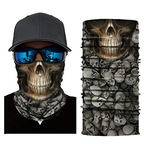 Feitb Volle Funktion Ski Motorrad Halsrohrwärmer Radfahren Biker Schal Wind Gesichtsmaske Halloween Maske (C)