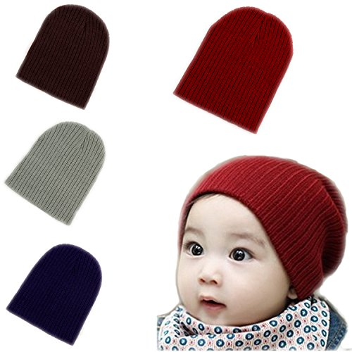 BOMPOW Baby Beanie Hat Cozy Hat Infant Toddler Baby Beanies for Boys Girls