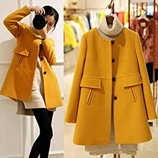 Hylong Winter Oversize O-Neck Medium-Long Wool Coat Women Slim Thickening A-