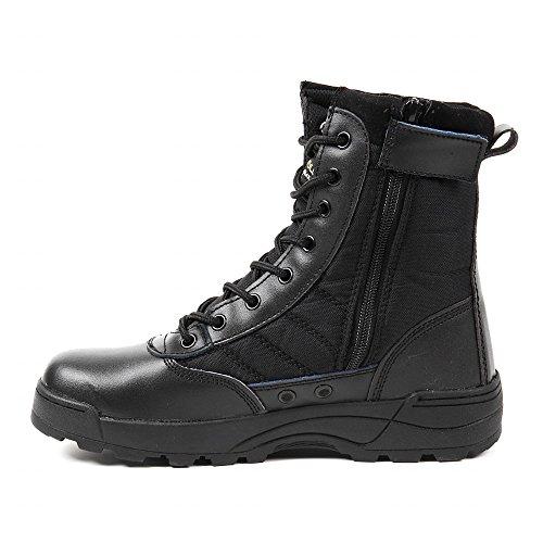 R-STYLE ミリタリースタイルな足下 サバゲー にも YKK監修 第三世代 サイドジッパー タクティカル ブーツ (ブラック, measurement_26_point_5_centimeters)