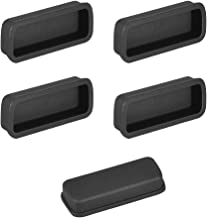 uxcell Silicone DVI Video Port Anti-Dust Stopper Cap Cover Black 5pcs