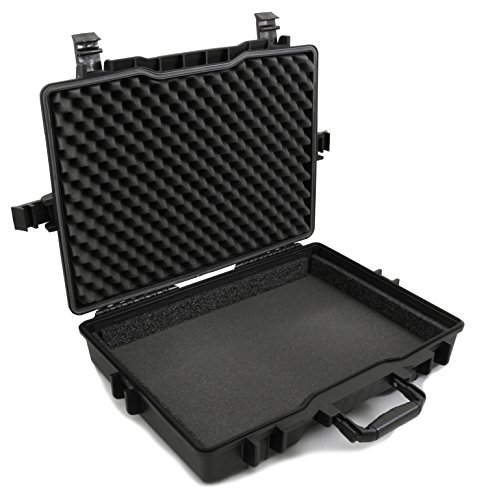 Casematix 17.3-15.6 Inch Laptop Hard Case Compatible with Dell Alienware Laptops Alienware M15, Area 51m Aw17R4, Aw15R3 and More Laptops Up to 18 inches with Custom Waterproof Design