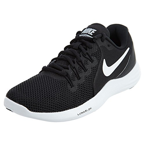 NIKE Women's Lunar apparent Running Shoe Black/White-Cool Grey 9