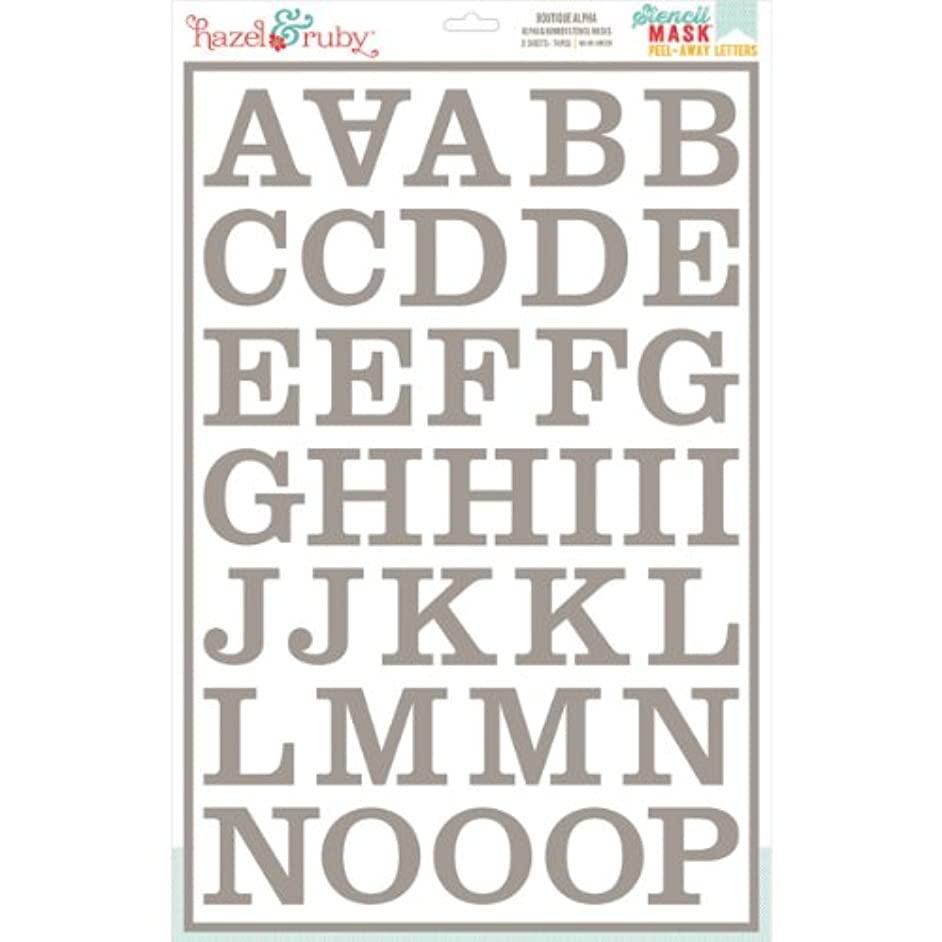 Hazel & Ruby HRSM329 Peel Away Alphabet Stencil Mask Sheet, 12 by 18-Inch, Boutique, 2-Pack