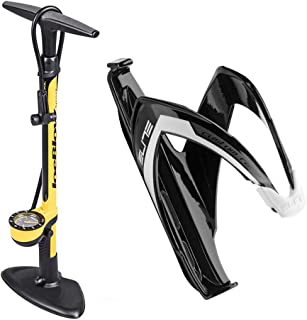 Topeak Joe Blow Sport III High Pressure Floor Bike Pump, Long Hose with TwinHead DX, for All Valves