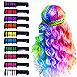 10 Colors Hair Chalk for Girls,Kids Temporary Bright Hair color,Hair Chalk Comb Birthday