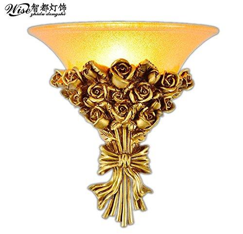 YU-K Moderne wandlamp van hars met gouden folie is perfect voor bar, restaurant en coffee winkel woonkamer slaapkamer hal balkon, Kim
