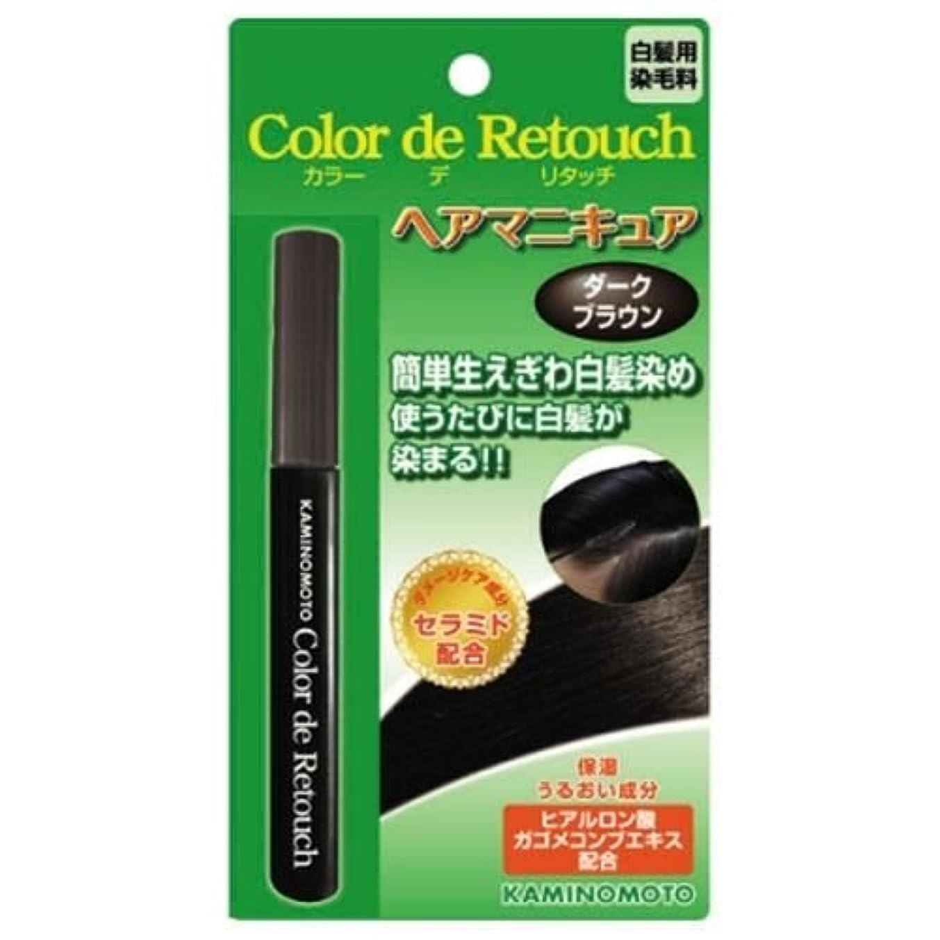 かどうかしなやか不一致カラー デ リタッチ ダークブラウン 10mL ×2セット