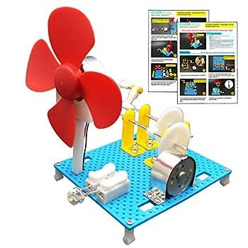 EUDAX DIY Dynamo Lantern Educational STEM Building Toy Hand Cranked Power Generator,Generators Science Kit Light Bulb Science Experiments Kits for Kids Age