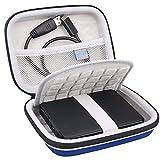 Lacdo 2.5 Pollici Custodia Hard Disk Esterno Disco Rigido per Seagate Expansion Portable Drive/Seagate Game Drive Basic/WD Elements/WD My Passport HDD 1TB 2TB 3TB 4TB 5TB Antiurto Protettiva, Blu