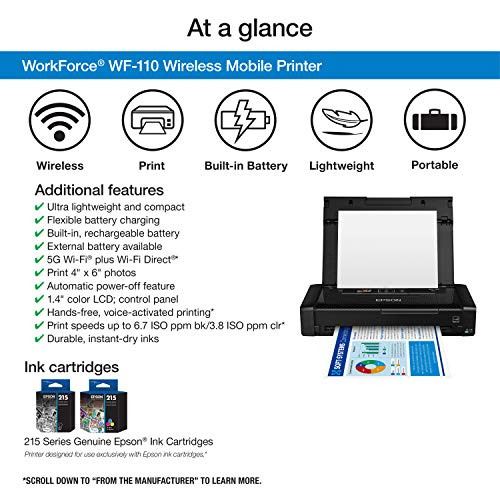 Impresora móvil inalámbrica Workforce WF-110