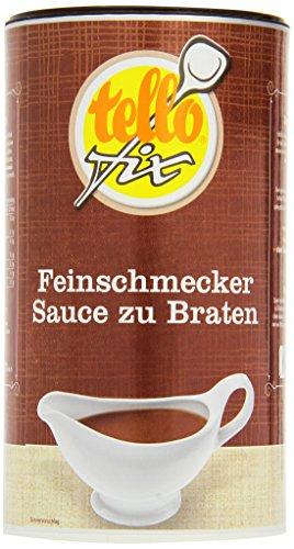 tellofix Feinschmecker Sauce zu Braten - Dunkle Bratensauce zum Kochen und Verfeinern - ohne Konservierungsstoffe - 1 x 752 g