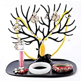 ZR&YW Fawn Jewelry Display Stand, Gioielli di Stoccaggio, Collana Orecchini Presente Vassoio di Natale,Nero