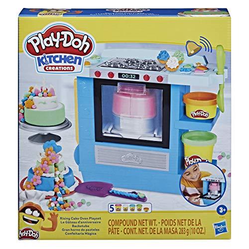 Play-Doh Set Gran Horno de Pasteles Kitchen Creations para niños a Partir de 3 años y con 5 Botes de plastilina no tóxica