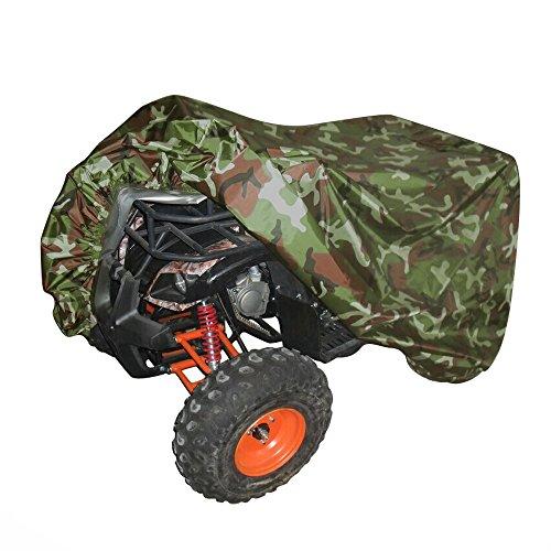 NEVERLAND XXXL Quad ATV Abdeckplane Fahrzeug Abdeckung Schutz Cover 190T 256 * 110 * 120cm Winterfest Staub Regen UV-Schutz Camouflage