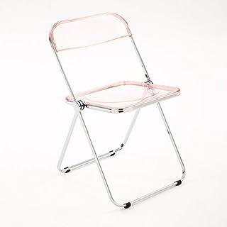 Cocina silla de comedor Hogar del respaldo for silla de comedor simple marco de metal de acrílico transparente Silla plegable for sala de estar y comedor opcional multicolor Las sillas de la sala