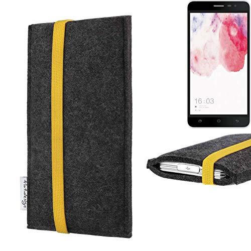 flat.design vegane Handy Tasche Coimbra für Hisense F20 Dual-SIM - Schutz Hülle Tasche Filz vegan fair gelb