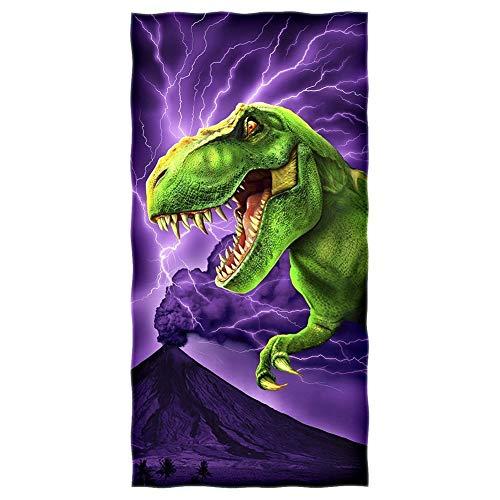 YISUMEI - Toalla de ducha/playa - Dinosaurio T-Rex - 70 cm x 140 cm