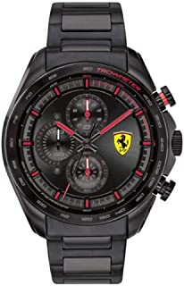 Ferrari Speedracer Men's Black Dial Stainless Steel Watch - 830654