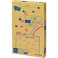 カウネット 低密度ゴミ袋エコ厚 箱 透明45L 120P×8