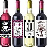 Sterling James Co. Eleganti Etichette da Vino per 30° Compleanno – Immagini, Idee e Decorazioni per Festa di Compleanno – Regali di Compleanno Divertenti per lei