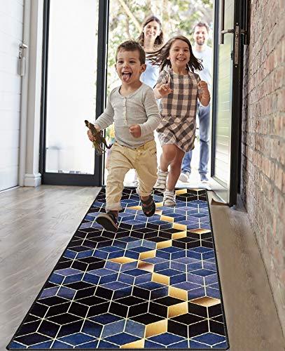 Amazpro Teppich Läufer 40x180cm, Korridor Teppich, Einfach zu Säubern, Weiche Oberfläche Teppich Flur Modern für Küche Schlafzimmer Wohnzimmer
