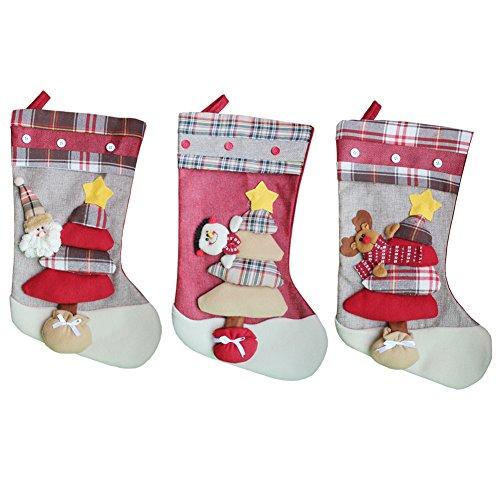 ZHAOHUIYING Nuevos Adornos Navideños Colgante Navideño Productos Navideños Calcetines 3 Piezas