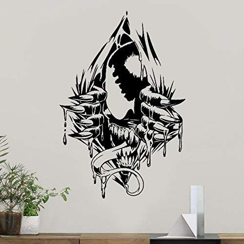 Dtcrzjxh Venom Wall Art Decal Venom Vinyl Aufkleber Superhelden   Comics Muster Jugend Zimmerdekorationen Removable Home Art Decor 57X85Cm