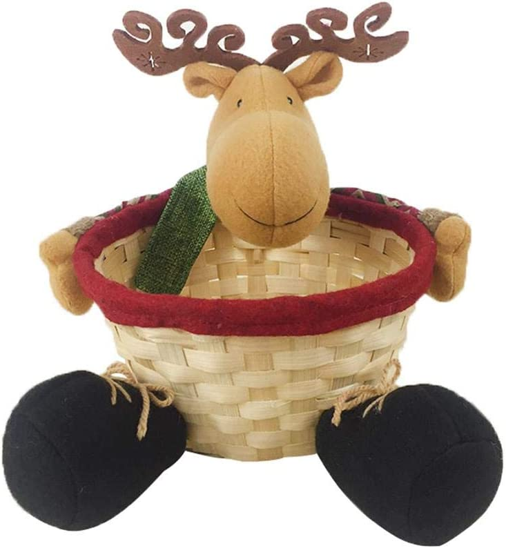 Max 51% OFF low-pricing Christmas Candy Basket Storage Party Cute