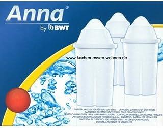 BWT Anna Monomax Lot de 12 Cartouches filtrantes Convenant aux carafes filtrantes Brita Classic PearlCo