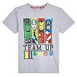 Marvel Camiseta Niño, Camisetas Niño Manga Corta con Superheroes Iron Man Capitan America Hulk y Thor, Ropa Niño de Los Vengadores, Regalos para Niños y Adolescentes (11-12 años)