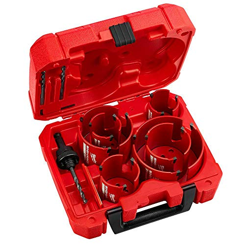 Milwaukee 49-56-9290 10 PC BIG HAWG Hole Saw w/Carbide Teeth Kit New