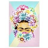 artboxONE Poster 90x60 cm Frida Kahlo Floral Floral Hipster
