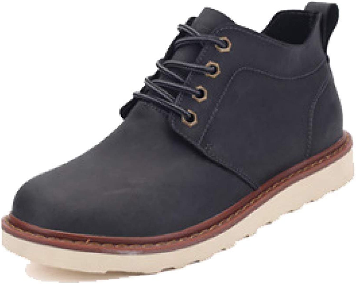 LYZGF, Men, England, Martin Boots, Fashion, Casual, Vintage, Desert, Leather Boots