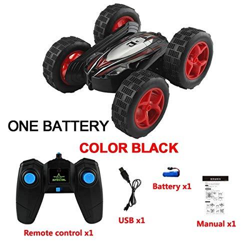 ZALE Übergroße RC-Cars, 2.4G 4CH Stunt Drift Off-Road RC-Autos for Jungen, Roboter-Fernbedienung RC Auto for Kinder for Jungen und Mädchen Geschenke schwingen (Farbe : Red with 1 Battery)