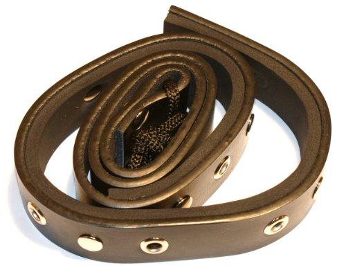 GEWA Parkettschoner/Stachelanker für Cello mit praktischer Notenklammer - aus stabilem, rutschfestem Lederband mit Metallösen zur Befestigung am Stuhlbein
