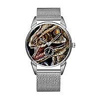 ファッション防水時計ミニマリストパーソナリティパターンウォッチ -735. レインボーヴェロキラプトルラプター腕時計